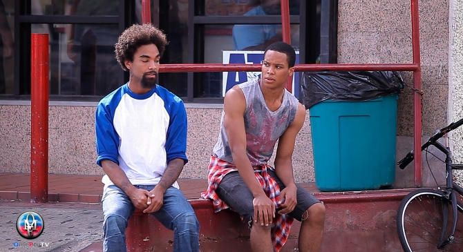 Omar (Bry'Nt) and Faybien Allen (RayMartell Moore) in Season 2 new episodes. Photo by Frankie Harley Jr/OmeProTV